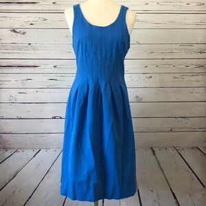 J Crew Sleeveless Dress 8T Pleats 8 Tall Fit Flare